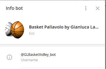 Bot Telegram Basket Pallavolo by Gianluca Landi