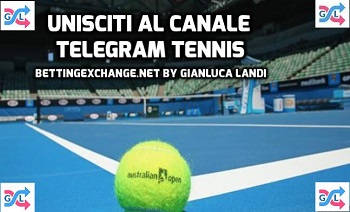 Canale Telegram Tennis Bettingexchange.net by Gianluca Landi