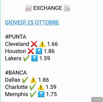 analisi post match basket nba modalità exchange 24 ottobre 2018