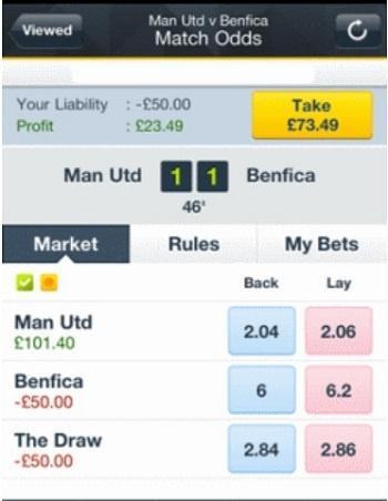 Cash out betfair