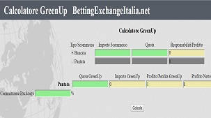 calcolatore green up betting exchange