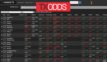TxOdds  Tx Markets OCI quote bookmaker