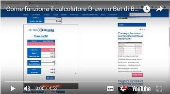 video come funziona il calcolatore draw no bet di bettingexchange.net